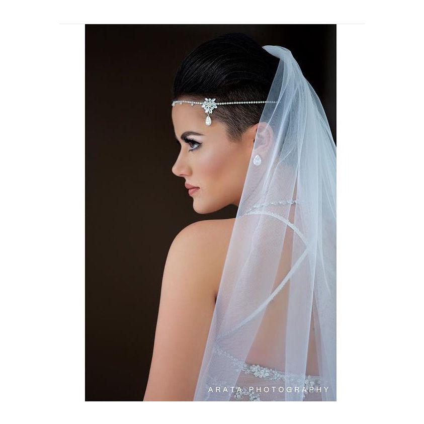 Short Hair Bride! Pixie Cut! #bride #bridal