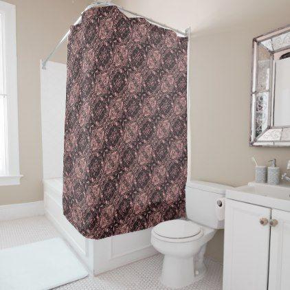 Aluminum Foil Design In Light Pink Shower Curtain
