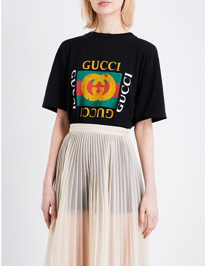 34280a9304 Embroidered-logo T-shirt by Gucci at ShopStyle. | Most Loved On ...