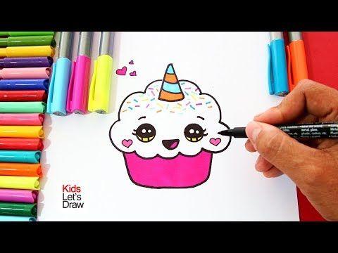 How To Draw A Cute Lovely Unicorn Ice Cream Super Easy Youtube Como Dibujar Un Unicornio Unicornios Para Dibujar Dibujos Animados Para Dibujar