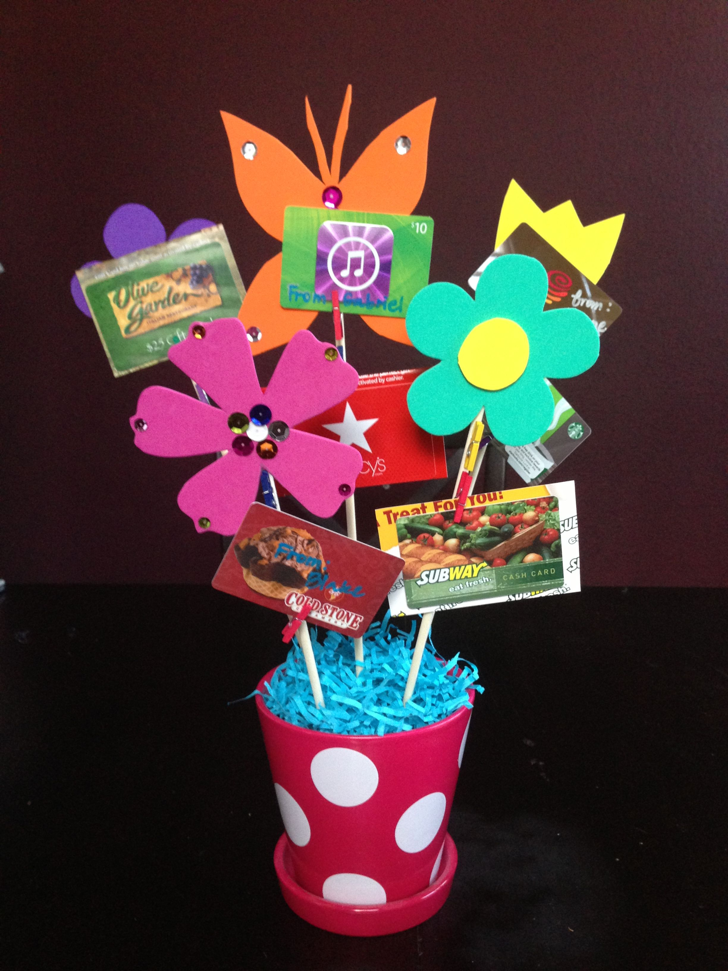 Gift card bouquet for teacher appreciation week get crafty gift card bouquet for teacher appreciation week negle Choice Image