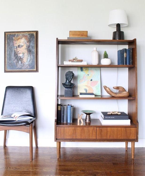 Mid Century Modern Bookcase Display Cabinet 1960 In 2020 Mid Century Modern Bookcase Modern Bookcase Home Decor