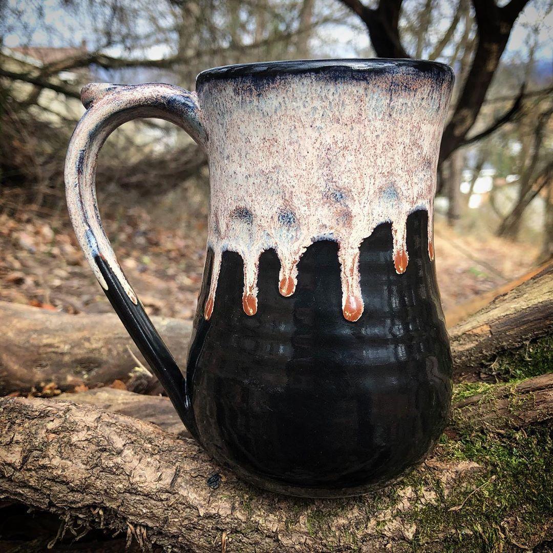 "Caden's Pottery on Instagram: ""Amaretto Drip mug"