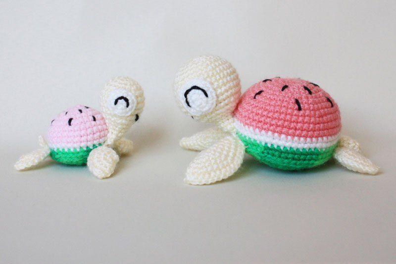Watermelon turtles – amigurumi patterns | Patrones amigurumi ...