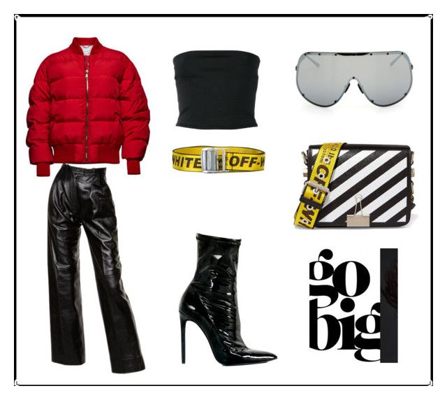 """""""☯︎"""" by idalinea on Polyvore featuring Rick Owens, Balmain, Off-White, Yves Saint Laurent and Magda Butrym"""
