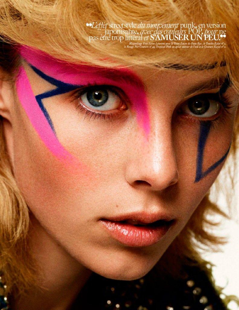 pink blue makeup