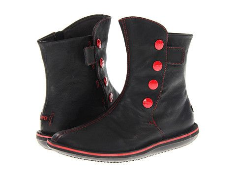 Camper Beetle-46397 Black Leather - Zappos.com Free Shipping BOTH Ways  Camper Boots 2e440ef93283