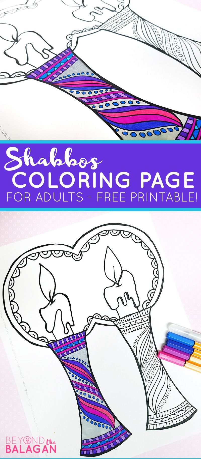 Shabbat Coloring Page For Adults Coloring Pages Adult Coloring