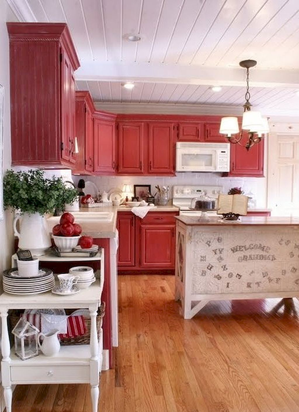 90 rustic kitchen cabinets farmhouse style ideas 89 farmhouse style kitchen red cabinets on kitchen cabinets farmhouse style id=68481