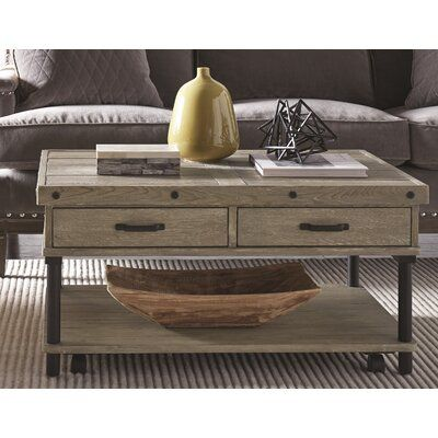 17 Stories Yesenia Coffee Table With Storage Coffee Table With