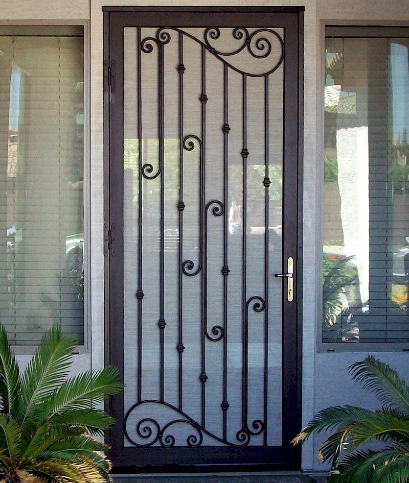 Used Iron Door Grill Designs Interior Wrought Iron Door: Custom Security Doors Phoenix