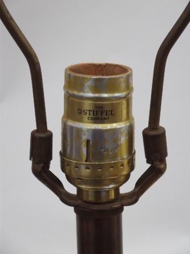 Stiffel Brass Lamp, Antique Brass Torch Table Lamp, Vintage Stiffel