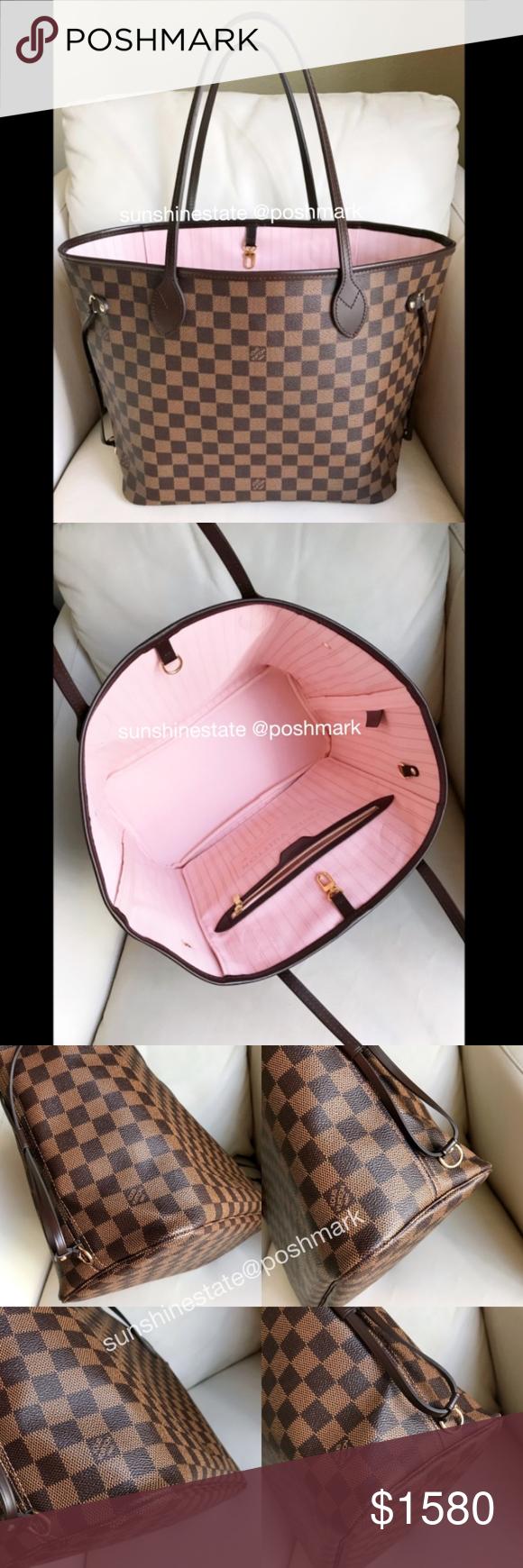 26cd94a1063a Louis Vuitton Neverfull MM Rose Ballerine Brand new condition Louis Vuitton  Neverfull MM Damier Ebene Rose Ballerine blush light pink lining.