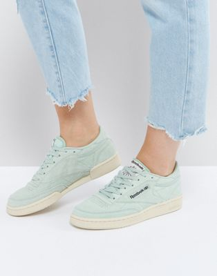 Reebok Classics Club C Pastel Sneakers In Mint Green  88e326d66716e