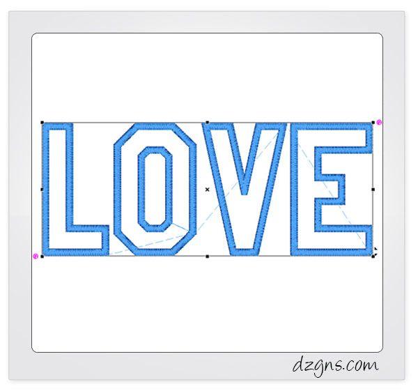 Double Decker Applique Letters | embroidery | Applique