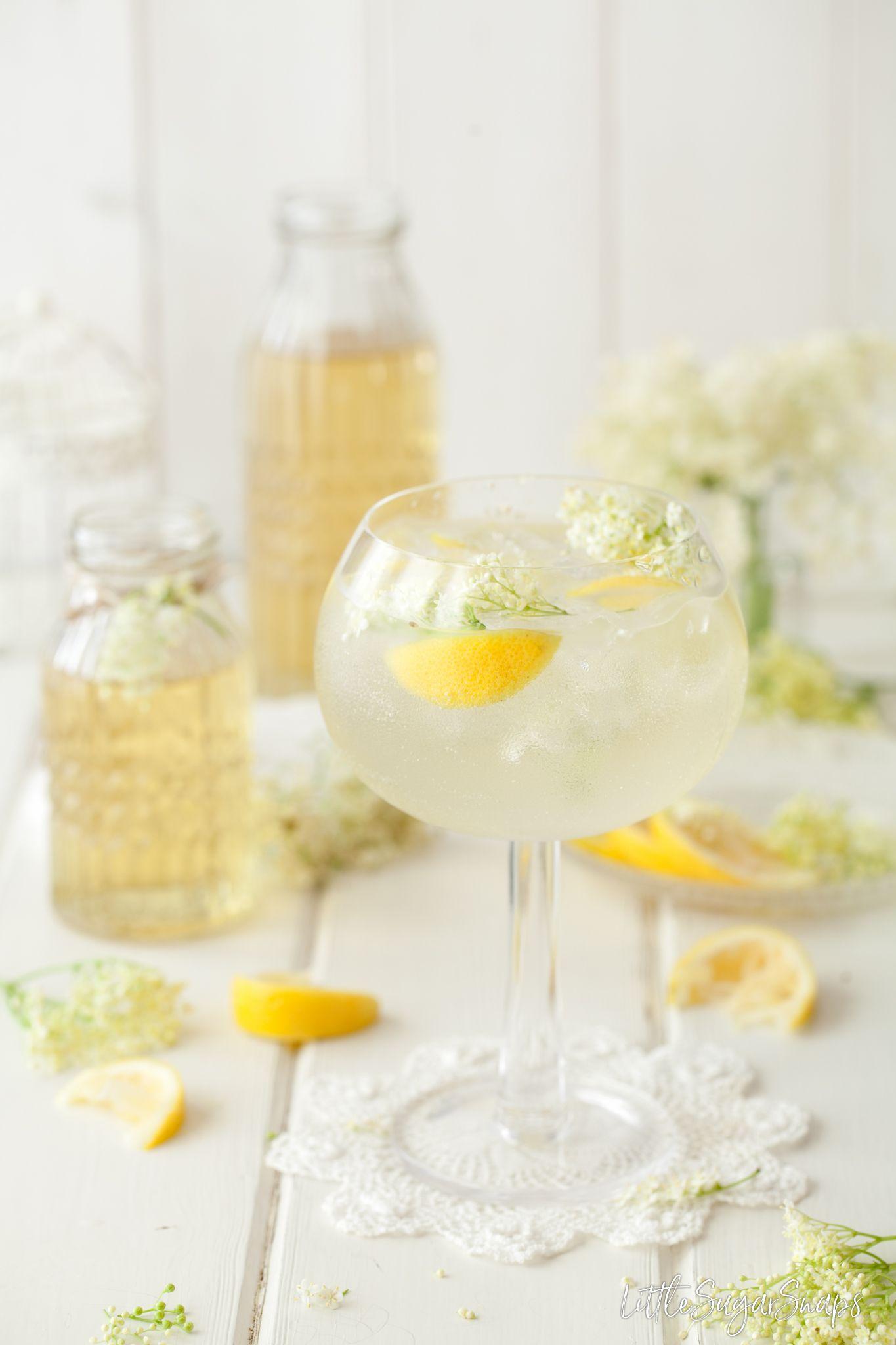Summer Gin and Tonic with Elderflower & Lemon