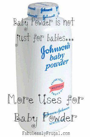 Alternative Baby Powder Uses