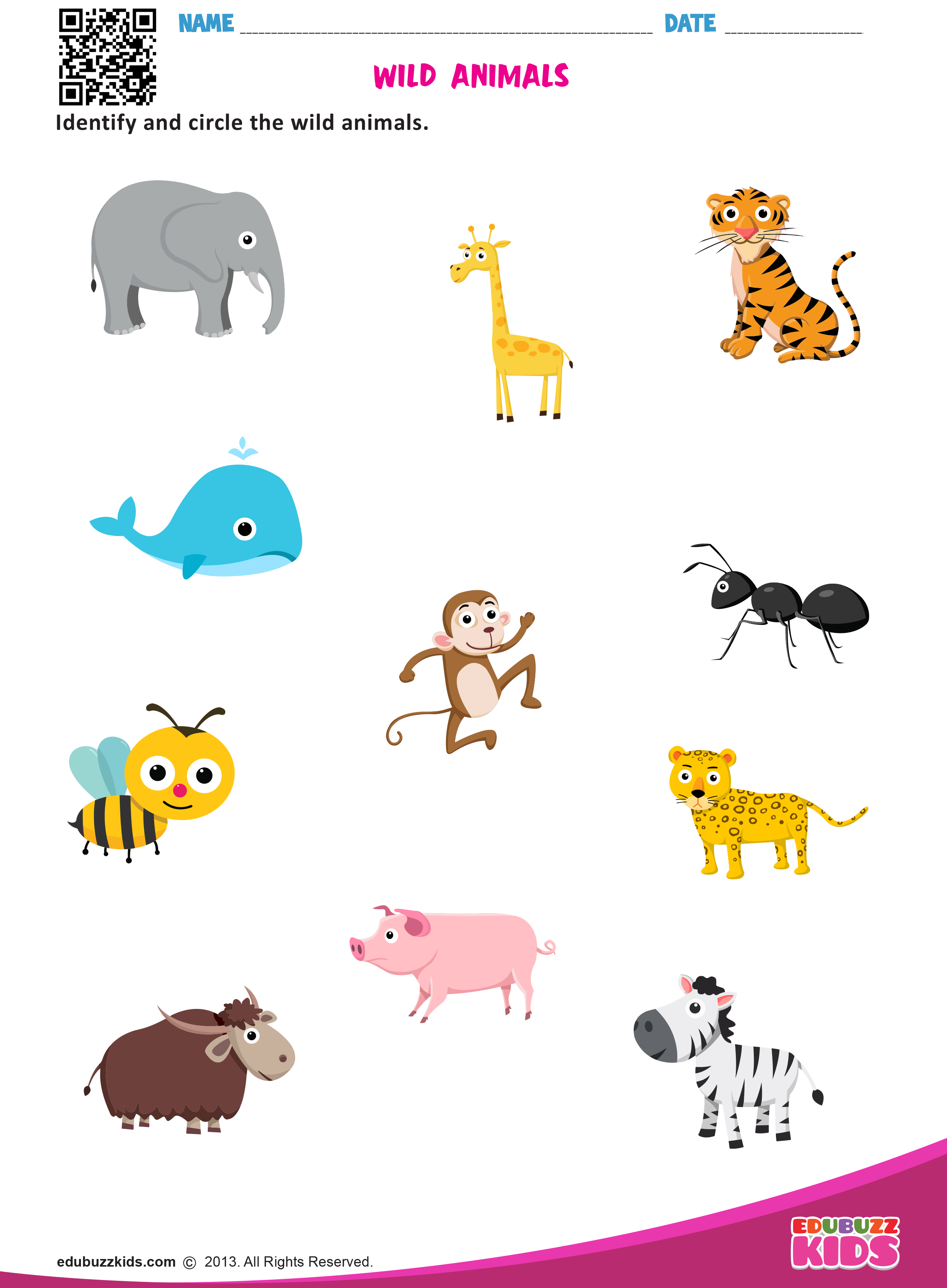 Animal Poem Worksheet   Printable Worksheets and Activities for Teachers [ 3374 x 2480 Pixel ]