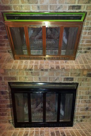 paint brass fireplace doors. DIY  Brass Fireplace Spray Paint Rehab Yep Need to Do This i