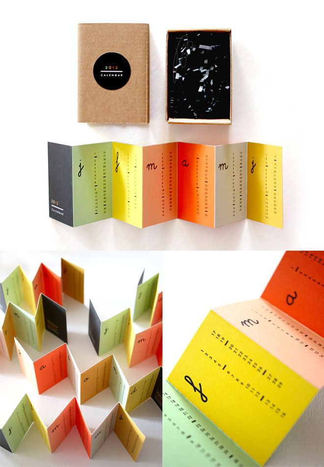 Accordion Calendar (SOLD OUT) | Booklet design, Buntings and ...