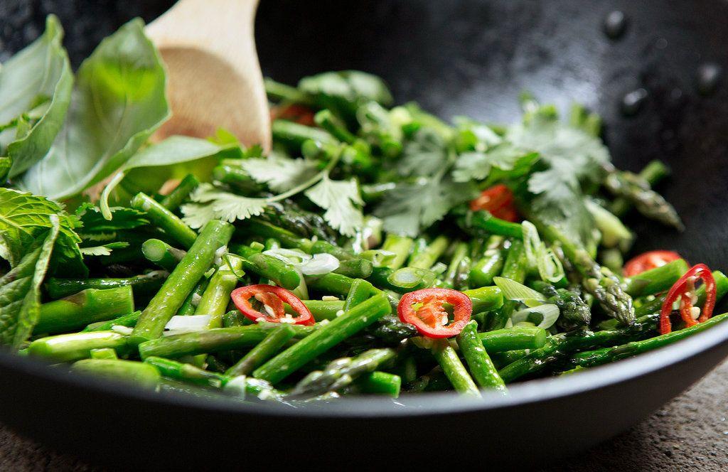 Stir Fried Spicy Asparagus Recipe