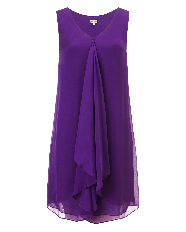 Summer Dresses | Purple Karishma Silk Dress | Phase Eight