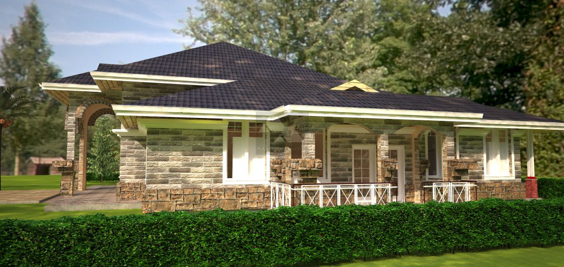4 Bedroom Bungalow House Plan By Architect In Kenya Country Style House Plans Architectural House Plans Bungalow House Plans