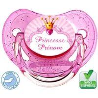 Tétine personnalisée princesse et prénom