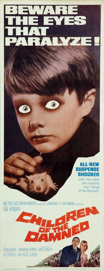 Children of the Damned is a 1964 science fiction film, a thematic sequel to the 1960 version of Village of the Damned. It is about a group of children, with similar psi-powers to the original seeding,[3] but enabling an opposite interpretation of the children being a more good and more pure form of human instead of totally evil and totally alien.