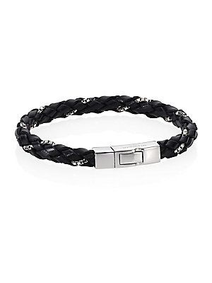 Tateossian Click Scoubidou Bracelet - Black - Size Medium