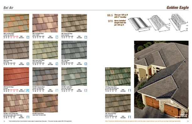 Golden Eagle Tiles Not All Colors And Profiles Available In All Regions Check Www Eagleroofing Com For Avai Concrete Roof Tiles Outside Paint House Exterior
