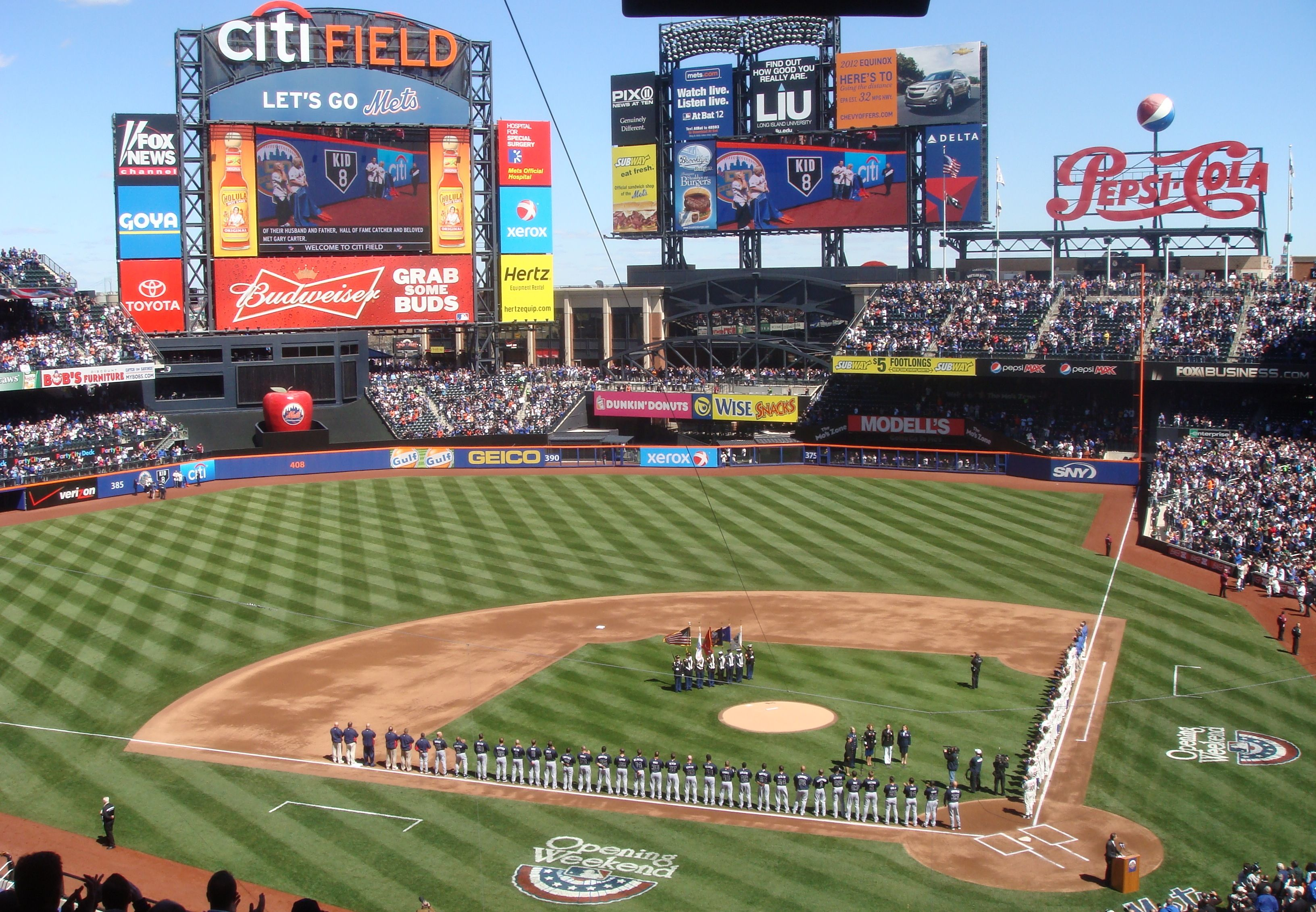 New York Mets Citi Field New York Mets Washington Nationals Field Wallpaper