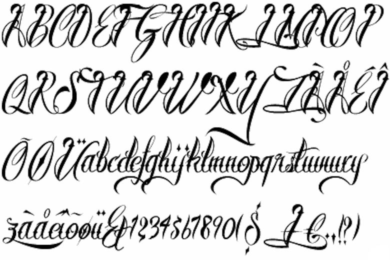 Fonts Calligraphy Letters Tattoos Calligraphy Letters Tattoos