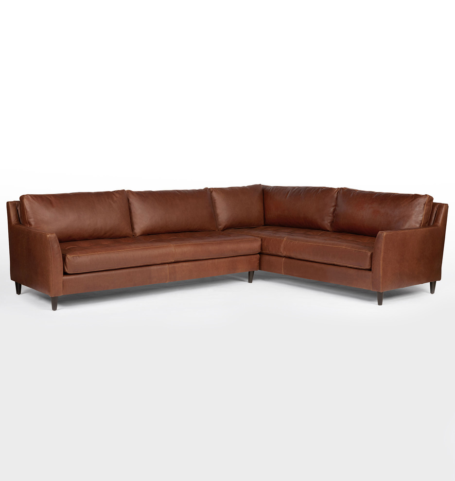 Hastings Sectional Leather Sofa Left
