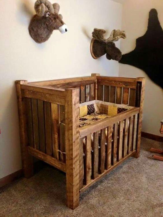 Ber o de pallet para uma decora o r stica e exclusiva - Cunas rusticas para bebes ...