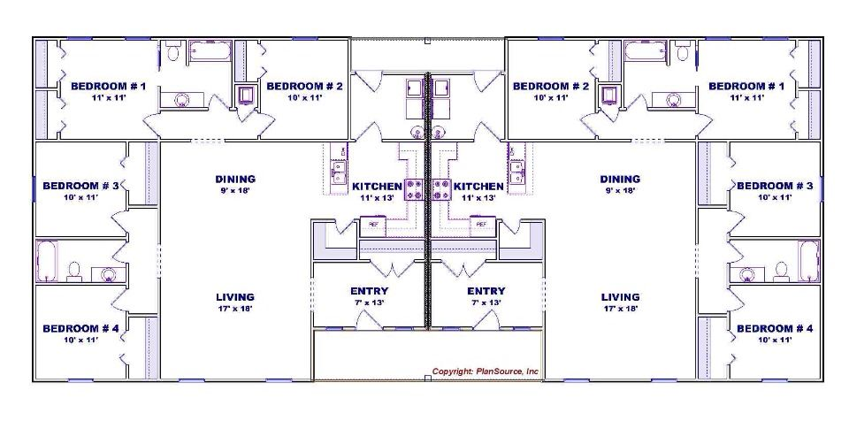 Great 4 Bedroom Duplex Floor Plan Duplex Floor Plans Duplex House Plans House Plans