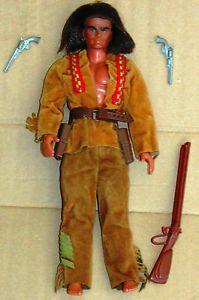 Vintage 70 S Big Jim Mattel Karl May Indian Warrior Doll