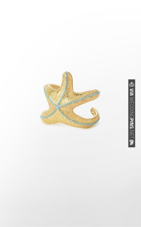 Starfish Cuff in Gold Metallic | VIA #WEDDINGPINS.NET