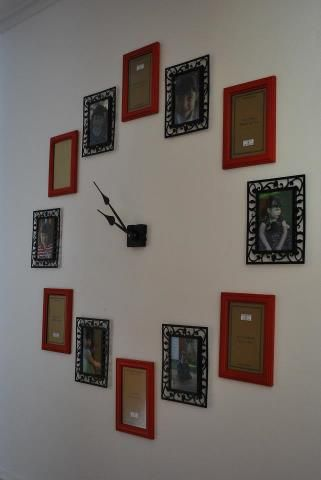 Check out my awesome photo wall clock! | relojes | Pinterest ...