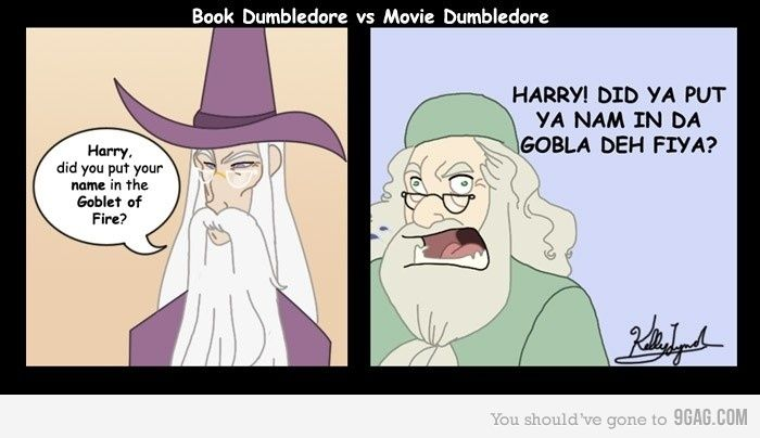 Book Dumbledore Vs Movie Dumbledore In 2020 Books Vs Movies