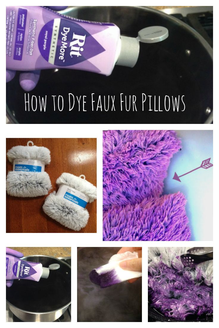 Dyeing a Faux Fur Body Pillow Cover from Target. #PurpleMakeover ...
