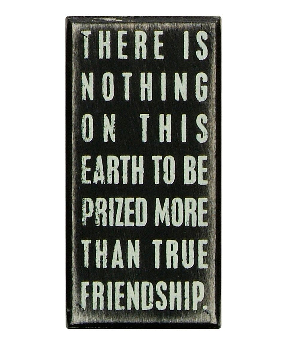Black 'True Friendship' Box Sign by Primitives by Kathy #zulily #zulilyfinds