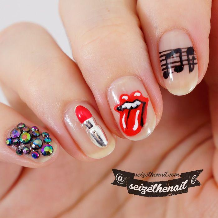 Rolling stones logo nail art nail art community pins rolling stones logo nail art prinsesfo Image collections