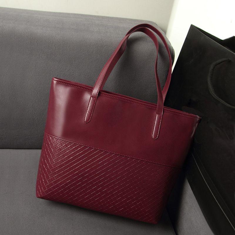 2017 Hot Sale Women Fashion PU Leather Handbag Shoulder Tote Hobo ...