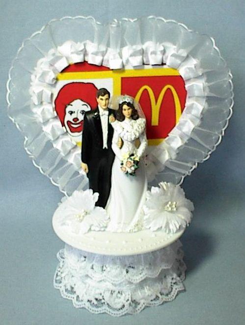 Wedding Cake Topper Mcdonald S Ronald Fast Food Restaurant Themed
