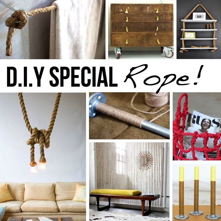 rope diy special projects crafts do it yourself interior design home - Fun Home Decor Ideas