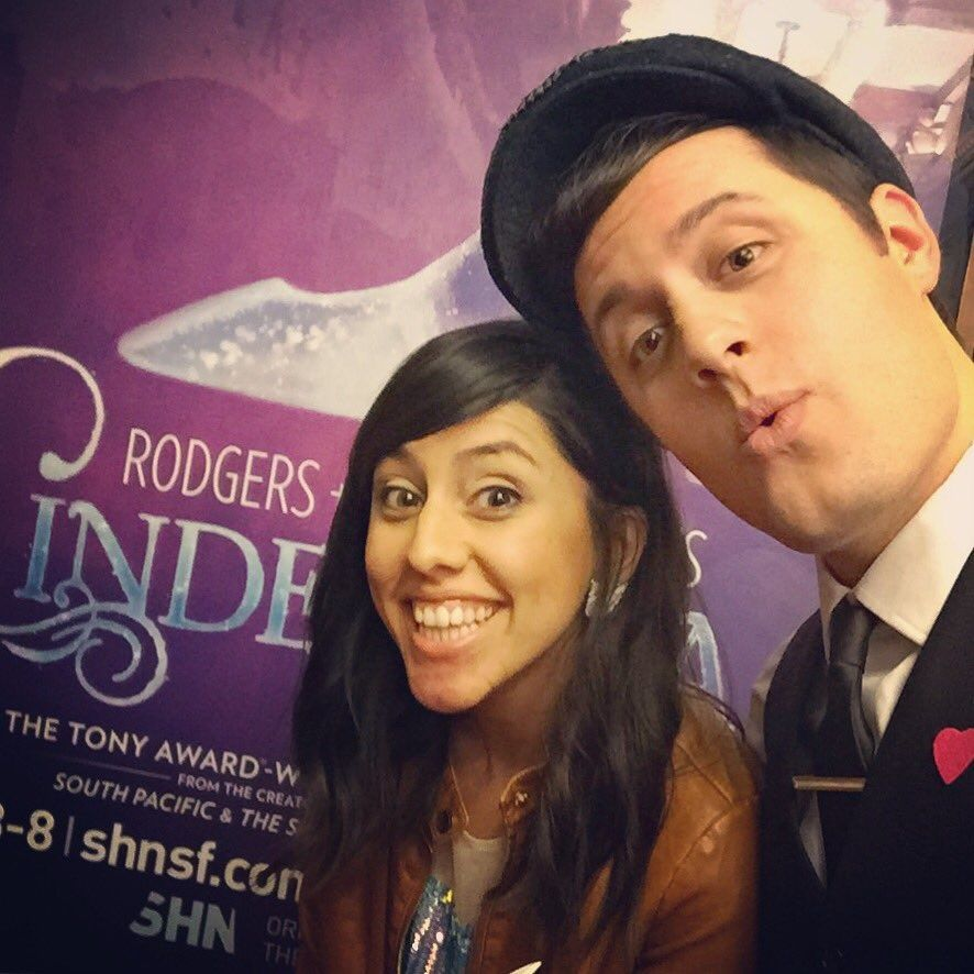 Lindsay Olivares and Nick Pitera at the Orpheum Theatre - May 2016