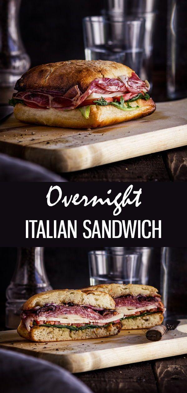 Famous New Orleans Easy Muffuletta Sandwich #sandwichrecipes