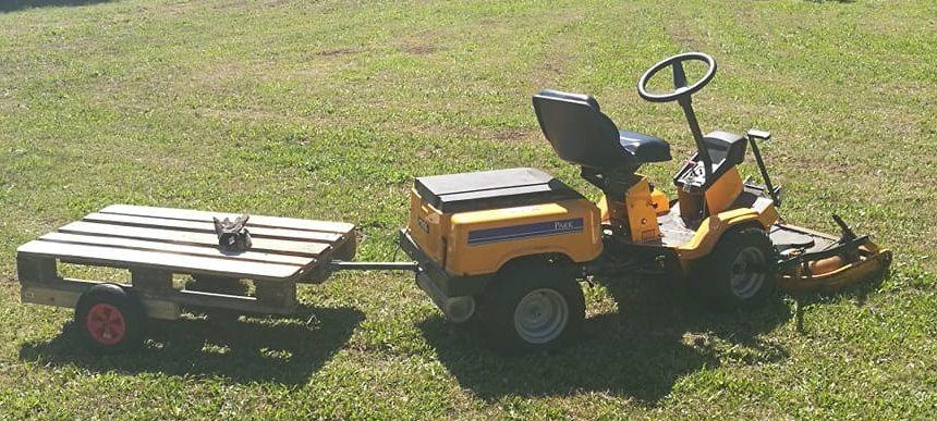 Selbstbau Anhanger Fur Den Rasentraktor Diy Palettenmobel Stiga Gardentractor Rideonmower Rasentraktor Rasenmaher Traktor Traktor