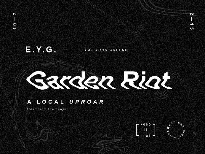 Garden Riot in Typography